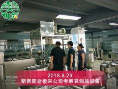 豆腐培训提高生产效率,新密客户定专业设备